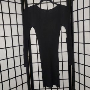 Forever 21 Black Ribbed Knit Dress